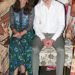 Dressed in Anna Sui and her beloved Pied a Terre Imperia wedges in Kaziranga, India on April 12th, 2016.