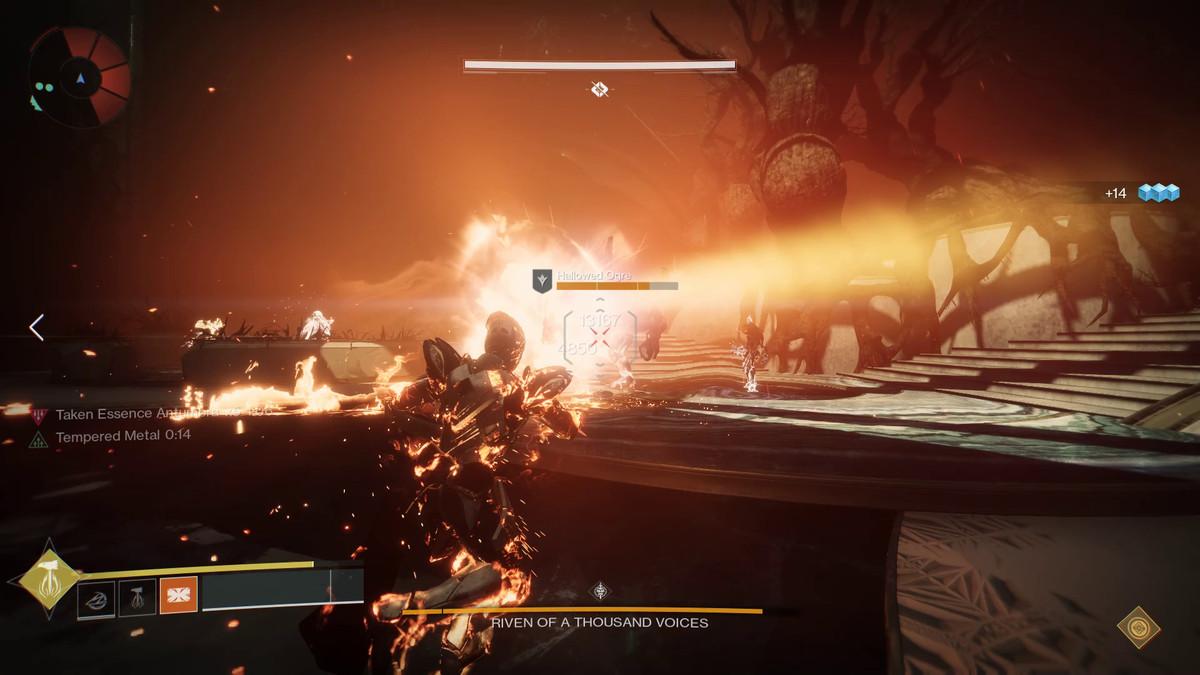 Destiny 2: Forsaken - Titan using a super attack in the Last Wish raid