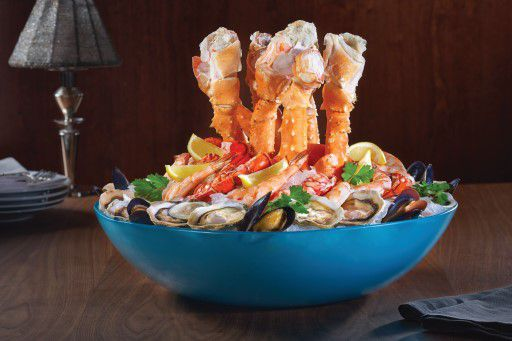 The chilled shellfish at Prime Steakhouse