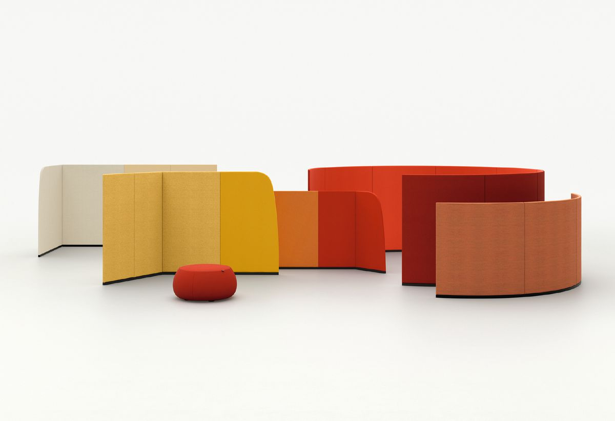 Red, yellow, and orange partitions