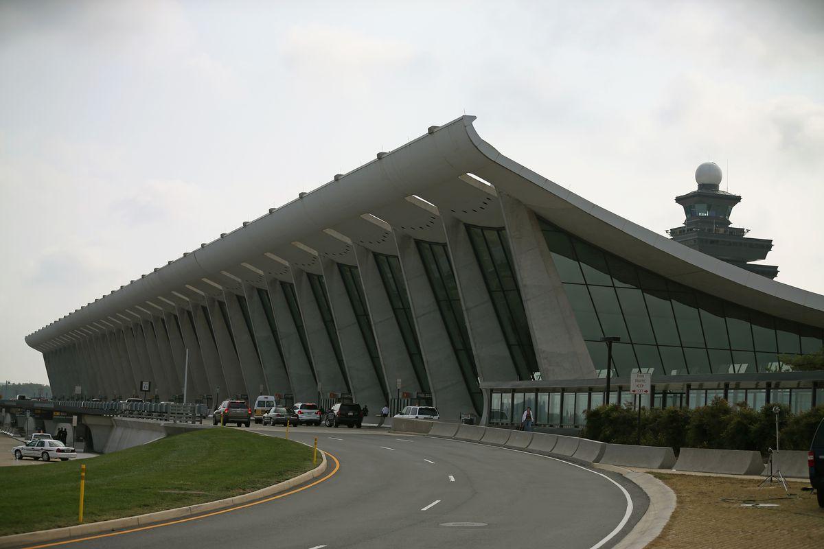 The main terminal at Washington Dulles airport