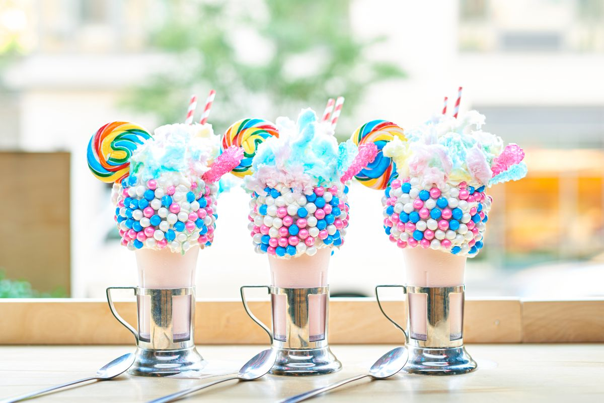 The cotton candy shake at Black Tap