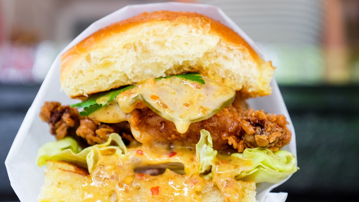 The fried chicken sandwich at Pineapple and Pearls in D.C.