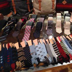 Socks $10, Ties $35