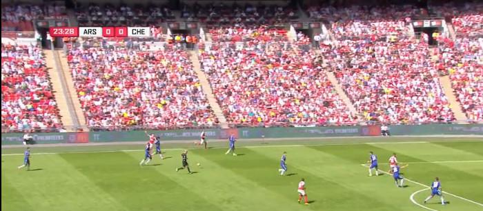 Arsenal goal v Chelsea