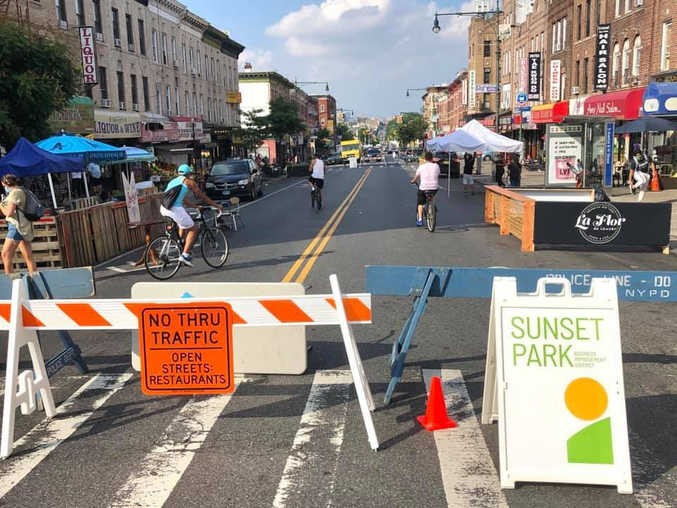 The Open Streets section of Fifth Avenue in Sunset Park in 2020.