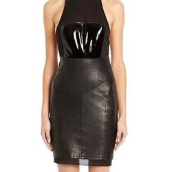 """Alexander Wang fitted racerback dress with breastplate, $985 at <a href=""""http://www.alexanderwang.com/shop/womens/ready-to-wear/dresses/106033r12fb4018/fitted-racerback-dress-with-breastplate"""">Alexander Wang</a>."""