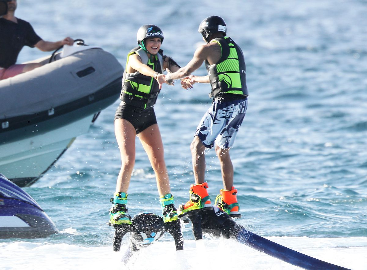 Kylie Jenner and Tyga doing it in St. Barts. Photo: FameFlynet.com