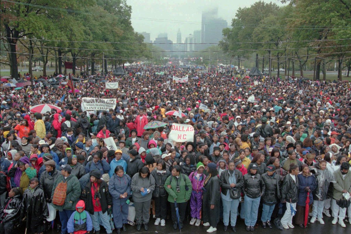 The Million Woman March took place in Philadelphia in 1997, drawing hundreds of thousands of women to Philly's streets.