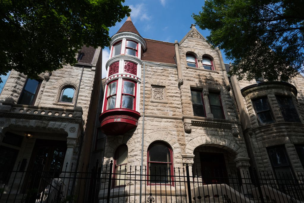 The Ida B. Wells-Barnett House on South King Drive in Bronzeville.