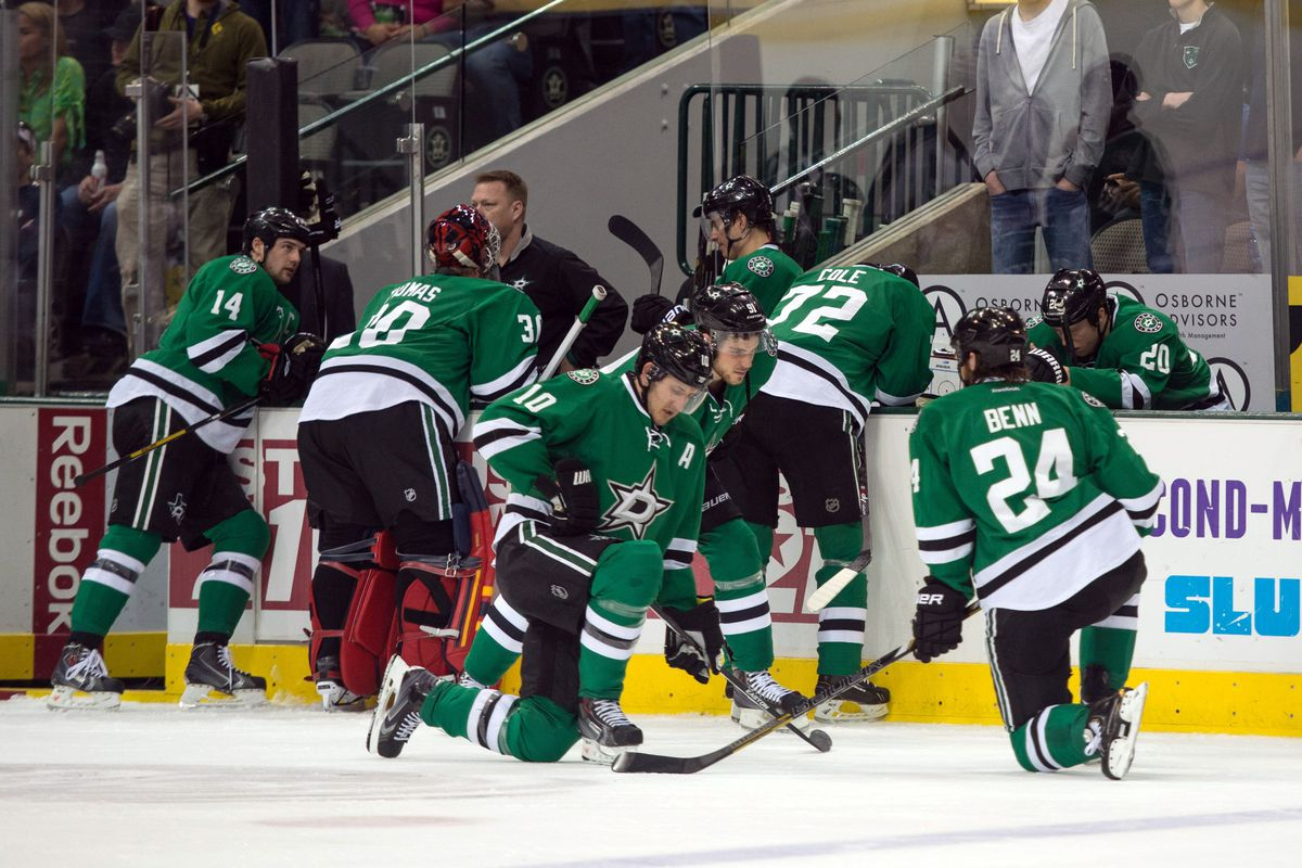The Dallas Stars wait for news on their teammate Rich Peverley, who collapsed on the bench due to heart issues in a game against the Columbus Blue Jackets.