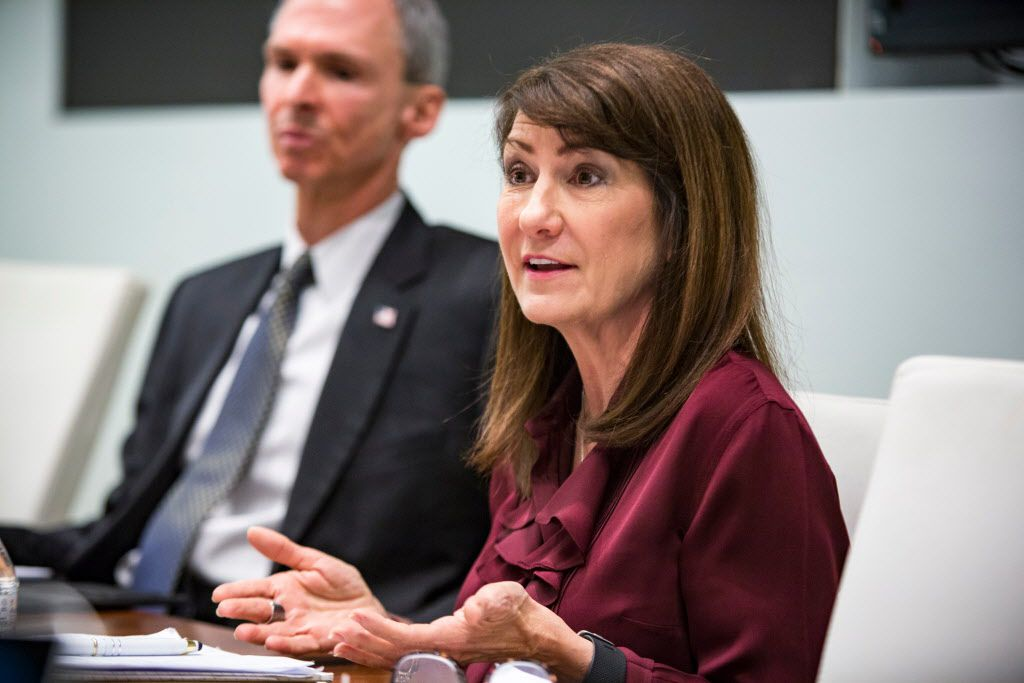 Democrat Marie Newman and U.S. Rep Dan Lipinski meet with the Sun-Times Editorial Board in January. File Photo. | James Foster/For the Sun-Times