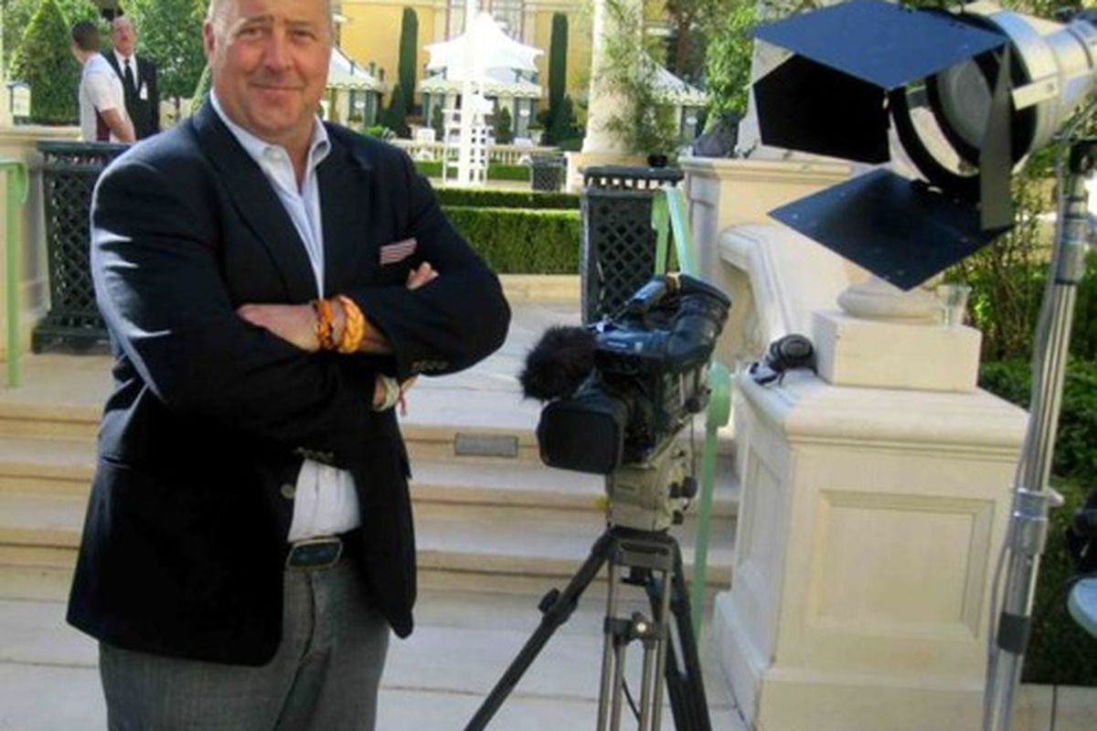 Andrew Zimmern films at the Bellagio on Friday, Feb. 17,2012.