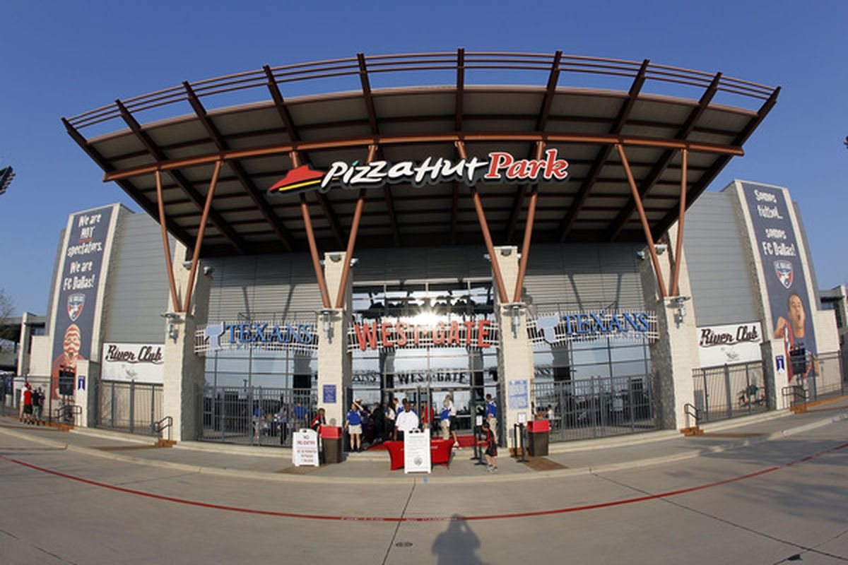 FRISCO, TX - MARCH 26: The exterior of Pizza Hut Park during a game against FC Dallas and the San Jose Earthquake at Pizza Hut Park on March 26, 2011 in Frisco, Texas. (Photo by Layne Murdoch/Getty Images)
