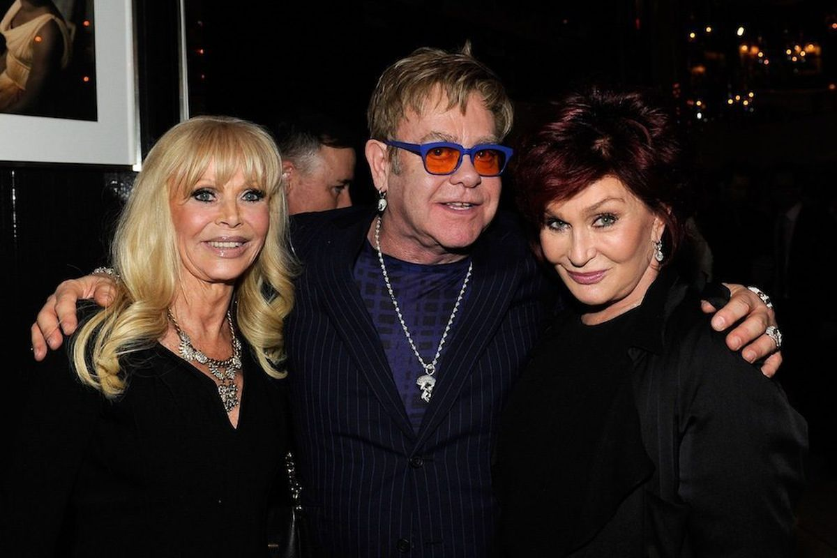 Britt Ekland, Elton John and Sharon Osbourne