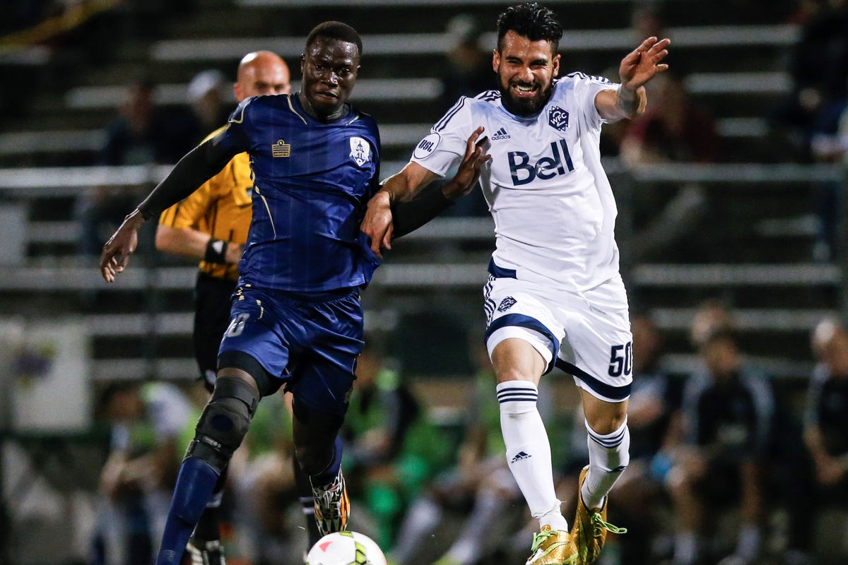 Sahil Sandhu (R) made his first professional start tonight against the Austin Aztex. WFC2 won the match 3-0.