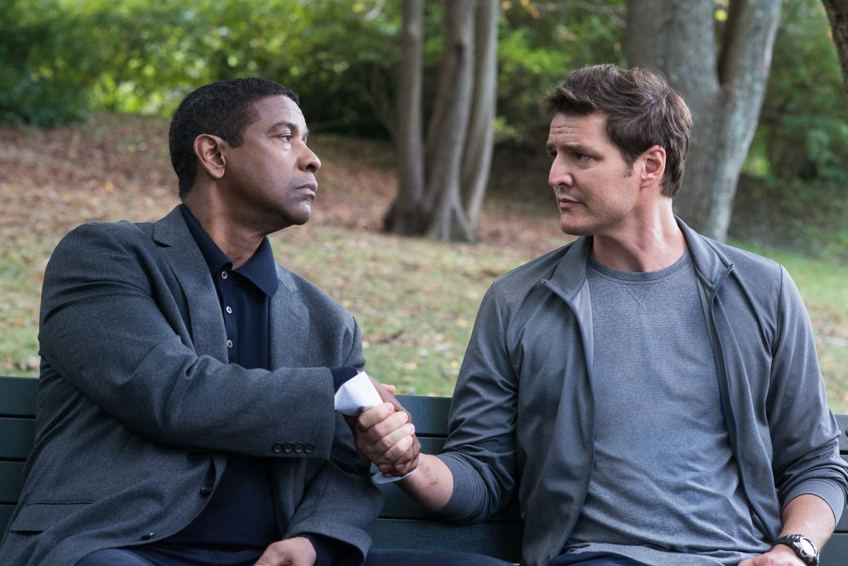 """Robert McCall (Denzel Washington) and Dave York (Pedro Pascal) are reunited in """"The Equalizer 2."""" 