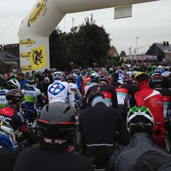 At the start in Gistel