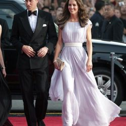In an <b>Alexander McQueen</b> lilac gown and <b>Jimmy Choo</b> shoes and clutch at the BAFTA dinner