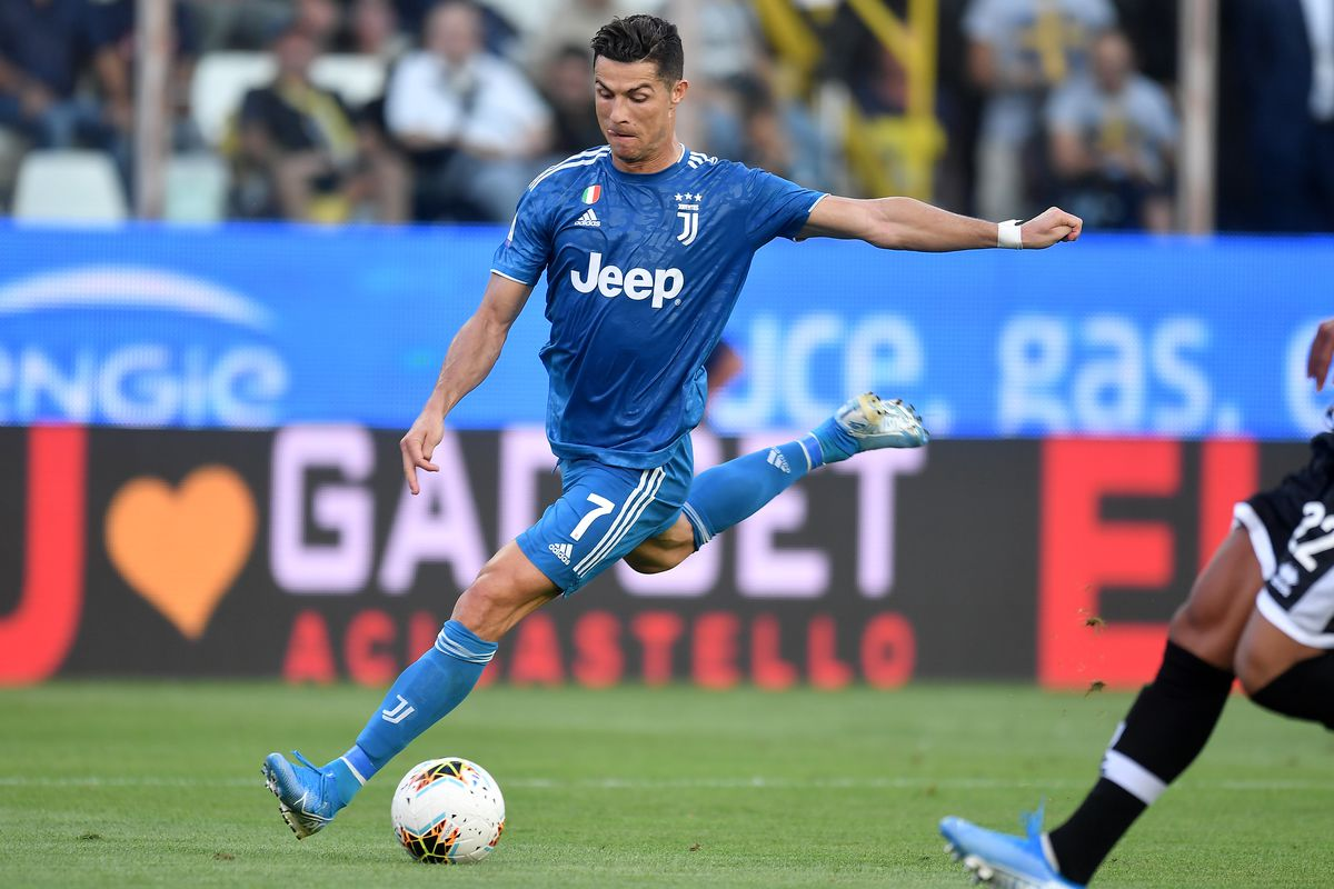 Cristiano Ronaldo of Juventus in action during the Serie A...