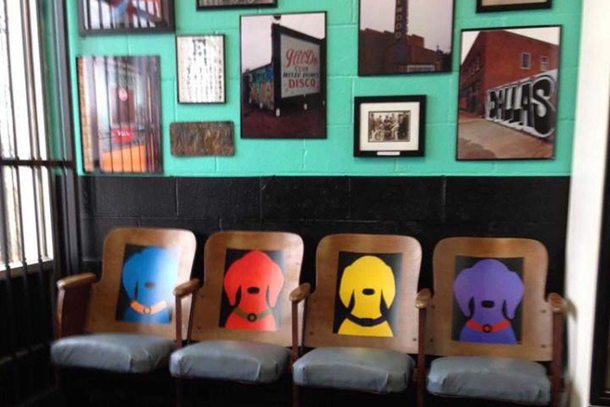 East Dallas memorabilia on the walls.