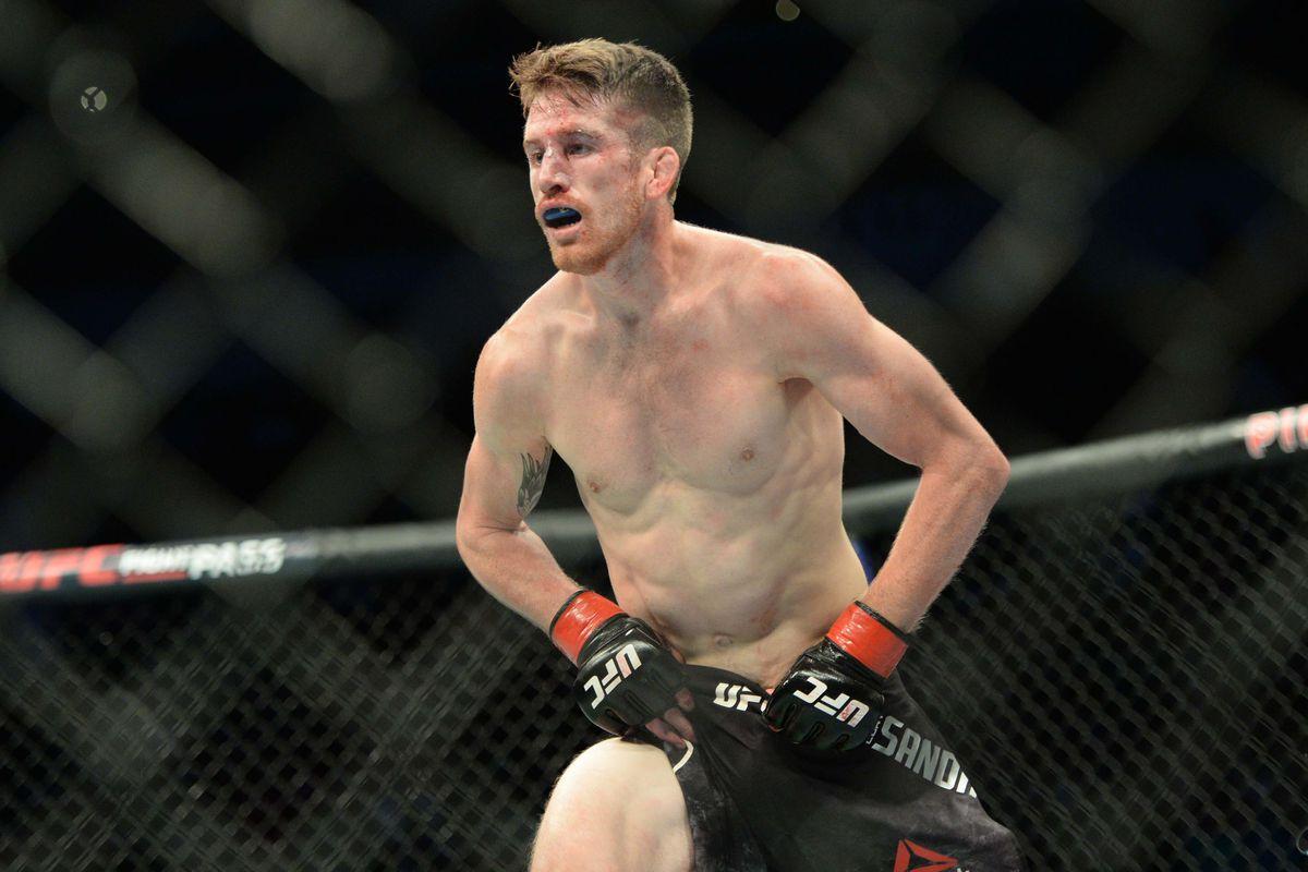 Cory Sandhagen whilst fighting Iuri Alcantara in August 2018