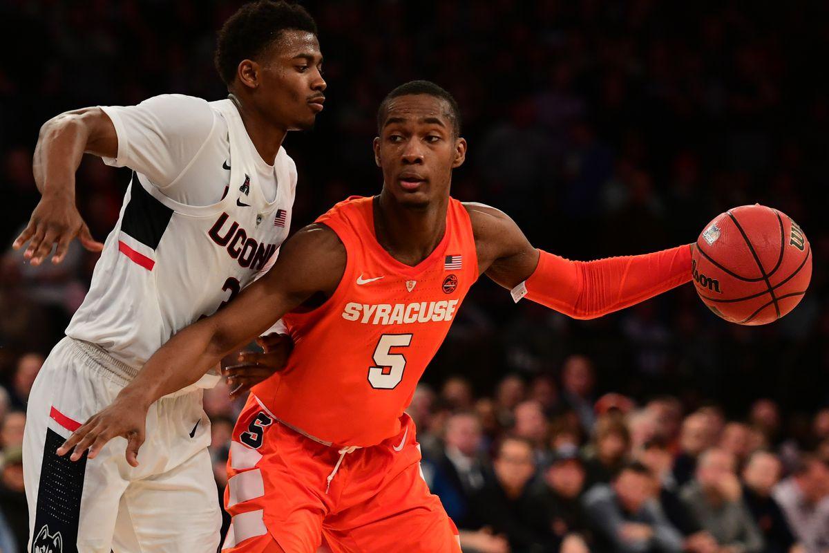 Syracuse Basketball Freshman Jalen Carey Adept At Not