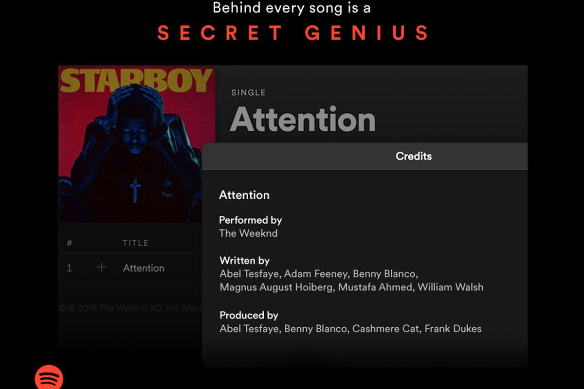 Spotify now displays songwriter and producer credits for iOS users