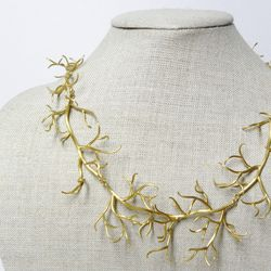 """Branch Necklace, <a href=""""http://www.hannahblount.com/collections/frontpage/products/branch-necklace#"""">$1238</a>"""
