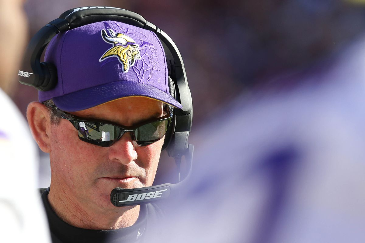 Mike Zimmer wears sunglasses during a losing streak so he doesn't kill you with his stare.