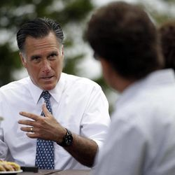 Republican presidential candidate, former Massachusetts Gov. Mitt Romney meets with a group of Pittsburgh area residents in Bethel Park, Pa., Tuesday, April 17, 2012.