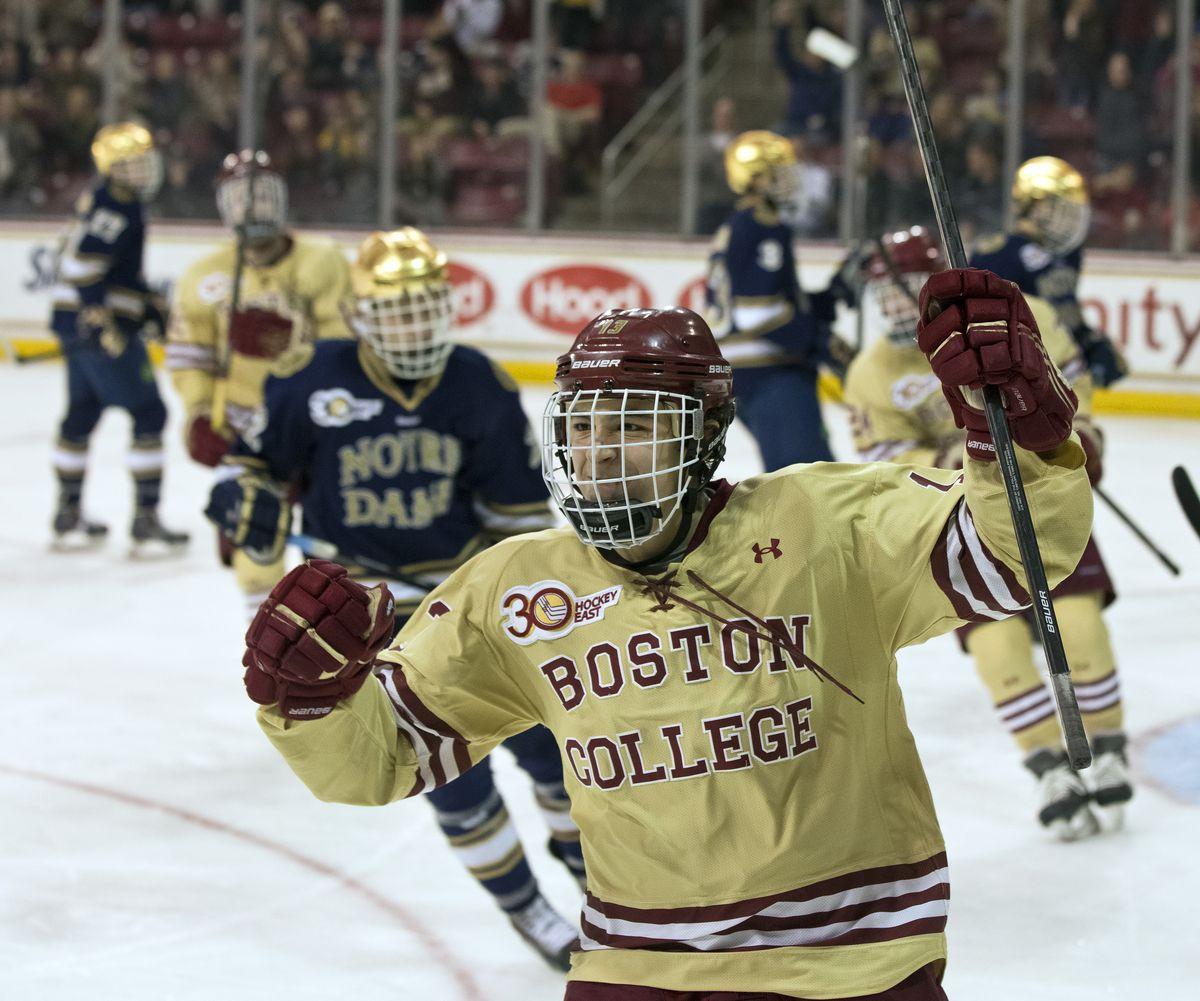 Boston College Eagles Vs. Notre Dame Fighting Irish At Conte Forum