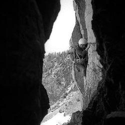 Rick Reese ascends Shadow Peak, Grand Teton Range, in 1968.