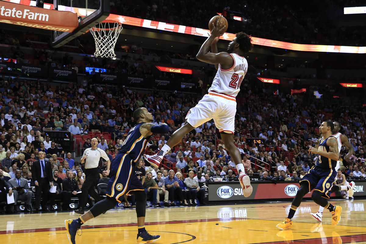 Is Justise Winslow (air) breaking out with no Bosh in the lineup? Yes.