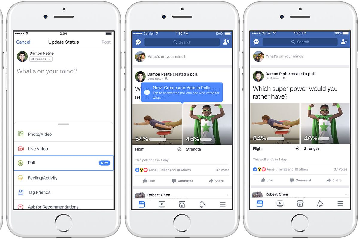 facebook rolls out gif supported polls feature to web and mobile