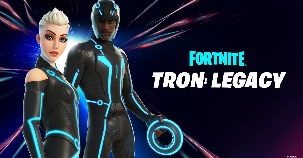 Tron invades Fortnite with Light Cycles and new skins - The Verge
