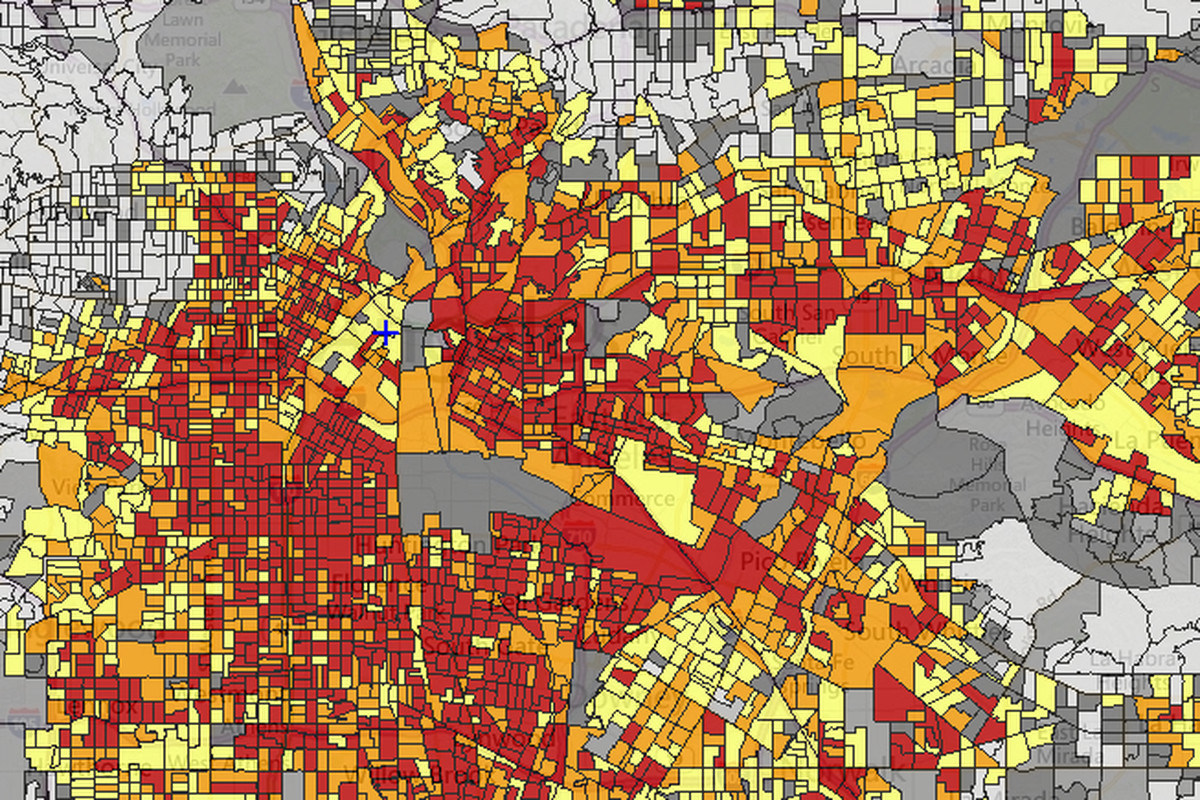 Mapping Five Types Of Environmental Risks Across Los Angeles - Los angeles county air quality map