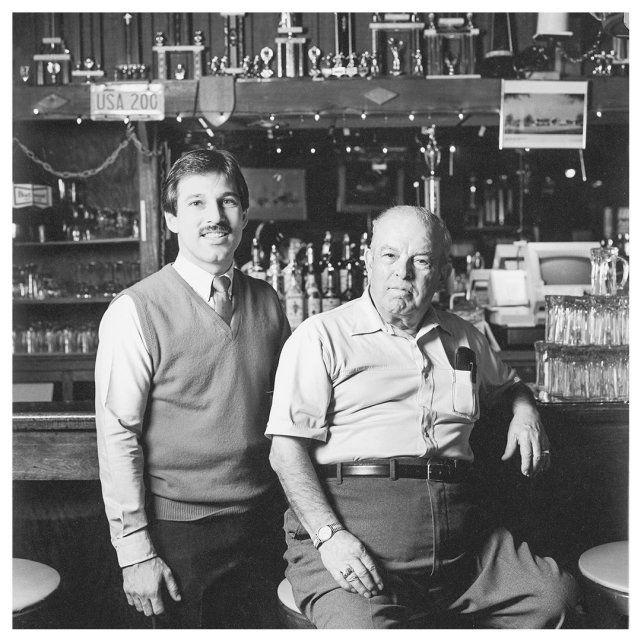 Joe Perrino (left) with his father Nick Perrino in 1979.