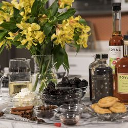 Ingredients for a dessert and cocktail recipes by Koval Distillery. | Ashlee Rezin/Sun-Times