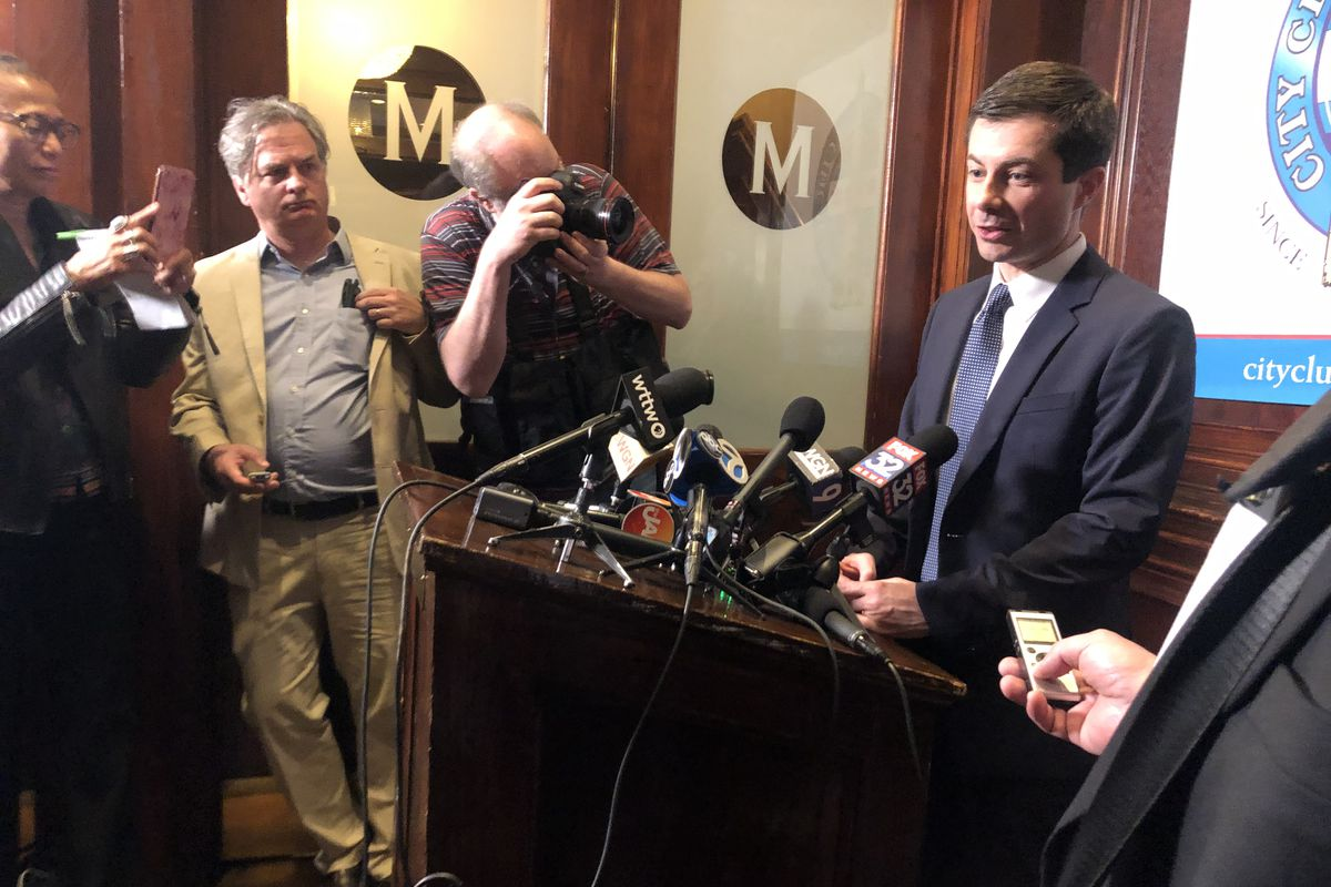 """South Bend, Ind. Mayor Pete Buttigieg said he welcomes more candidates to an already crowded presidential field, which he called """"wide open."""""""
