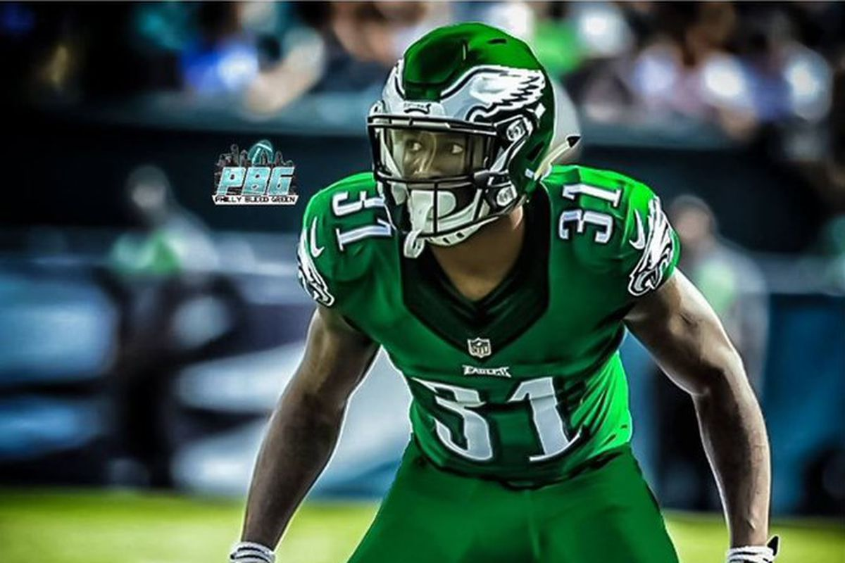brand new c98de a0cb3 One Eagles player wants the team to wear Kelly Green Color ...