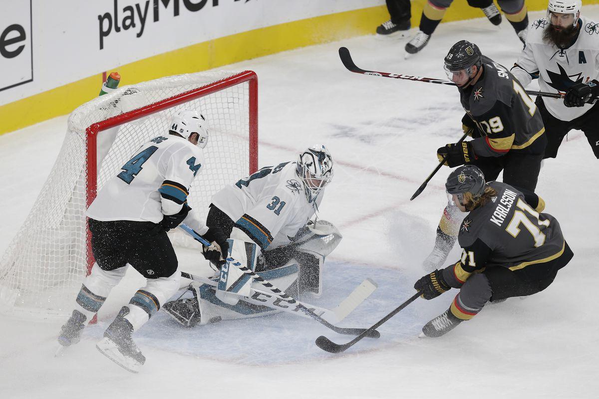 NHL: OCT 02 Sharks at Golden Knights