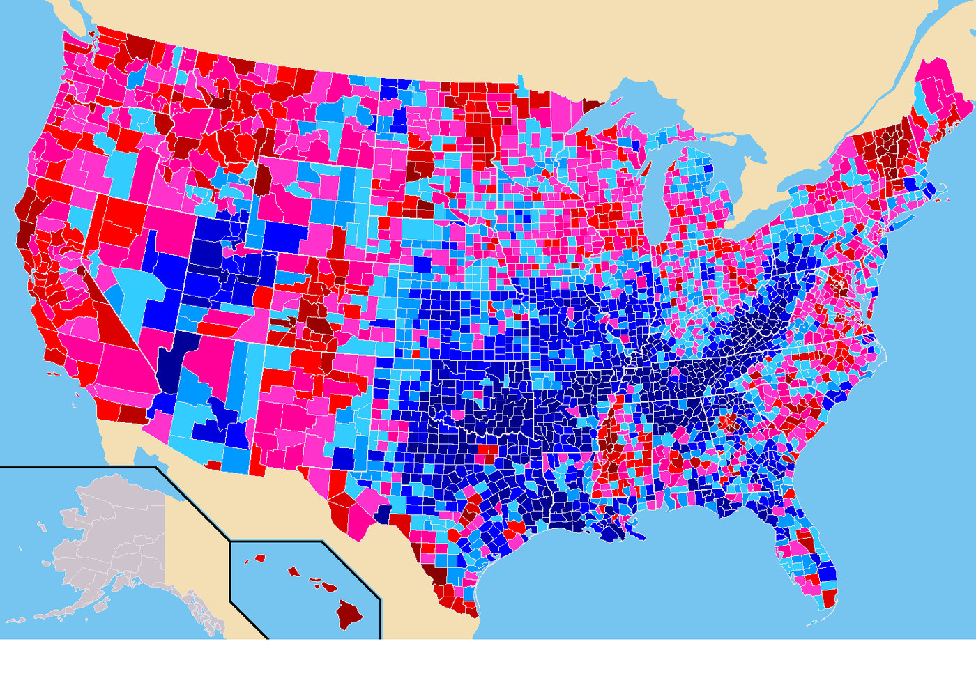 23 maps that explain how Democrats went from the party of ...