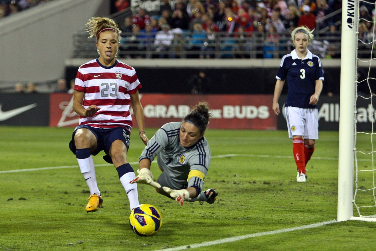 Mewis scored her first international goal on July 15 during a 4-1 win over Scotland