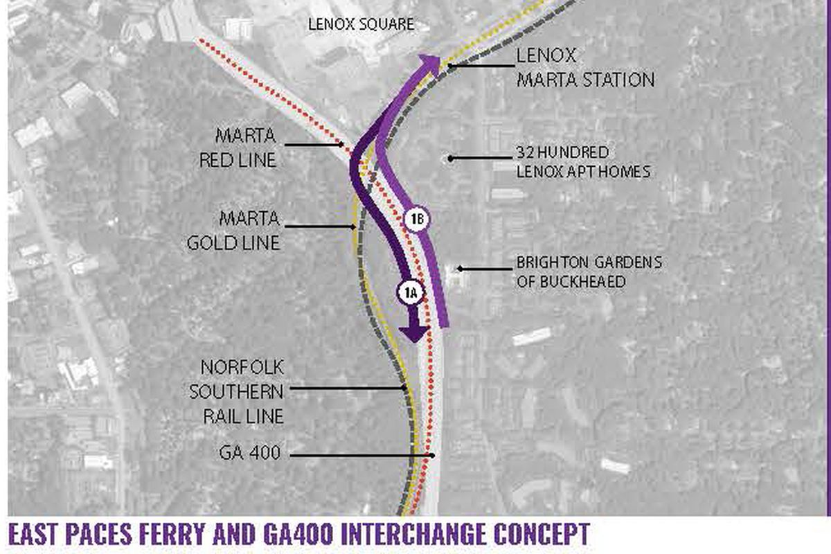 A rendering of plans to install an interchange connecting East Paces Ferry Road and Ga. Highway 400.