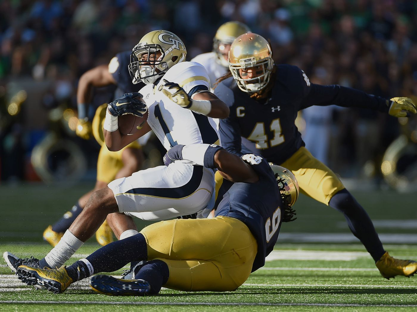 Notre Dame Vs Georgia Tech Yellow Jackets Football Betting Lines One Foot Down