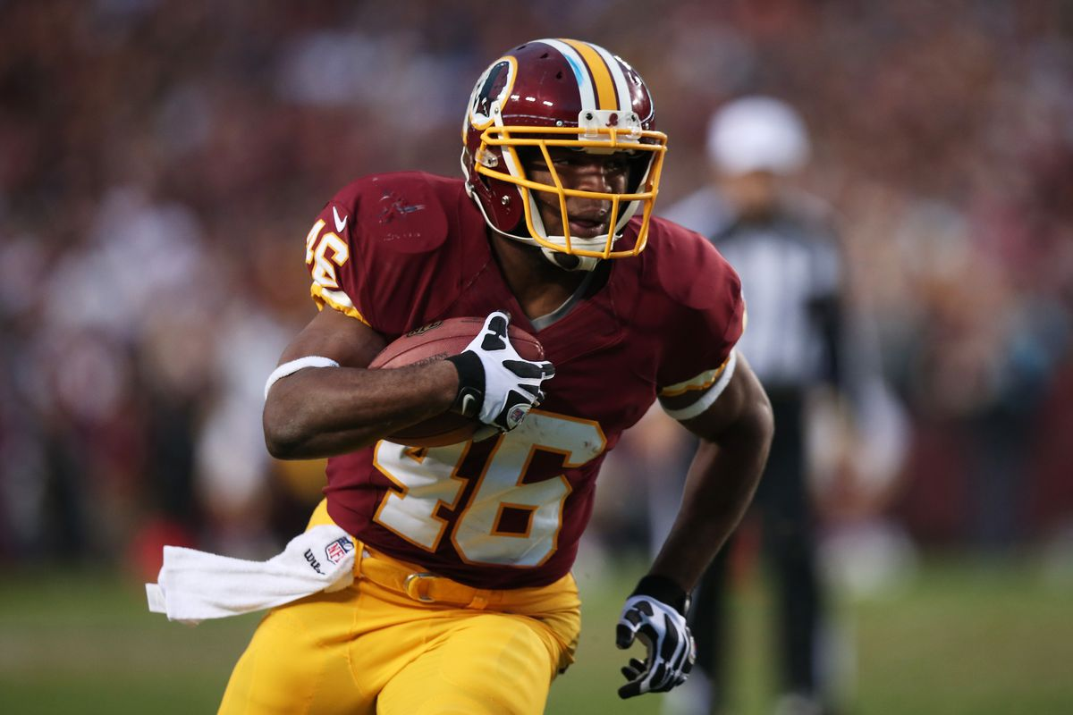 timeless design e3e82 4c9e9 Redskins by the (Jersey) Numbers: #46 - Alfred Morris - Hogs ...