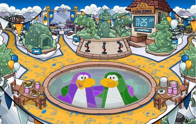 Club Penguin central square