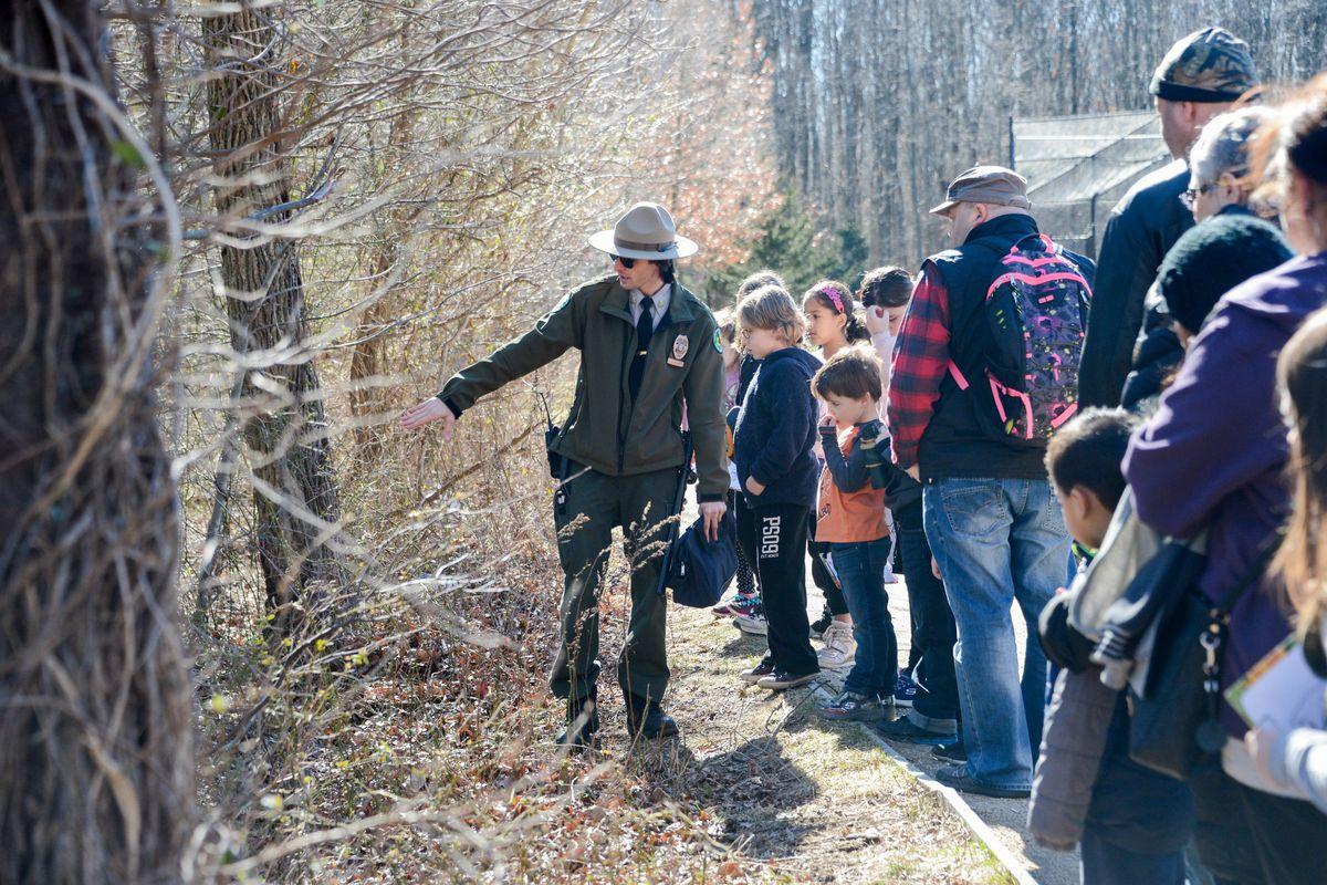 An Urban Park Ranger leads an educational program.
