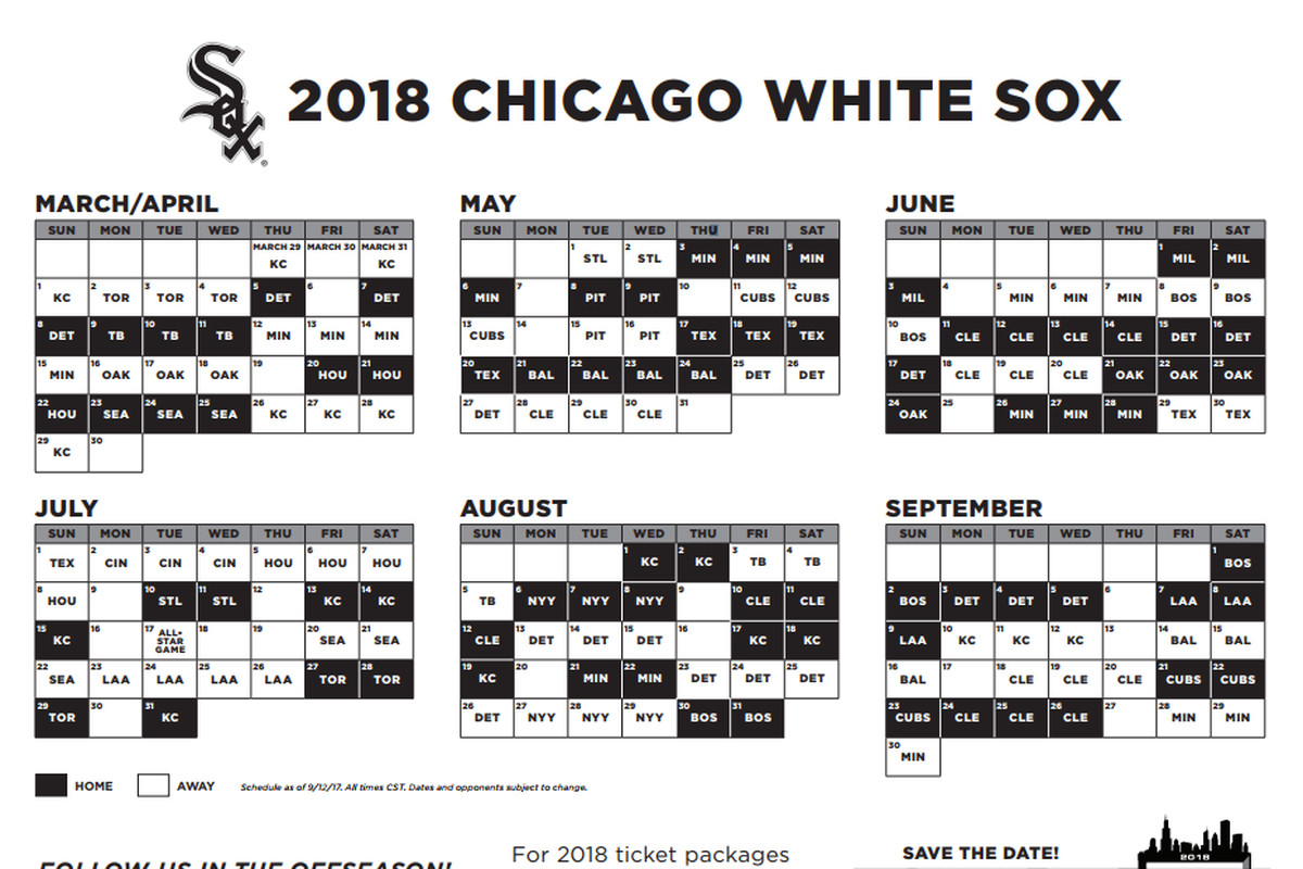 Chicago Cubs Schedule 2018